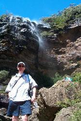 The Artist At Wentworth Falls